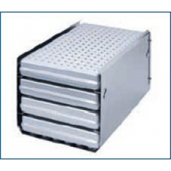 Rack for 4 standard tray cassettes or for 4 trays